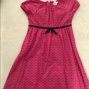 babyGap Girl's Pink & Navy Floral Print Dress